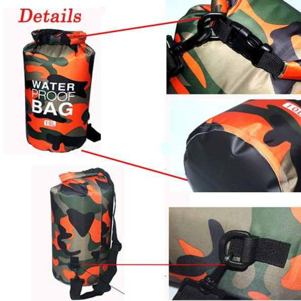 Waterproof Camouflage Dry Bag 2/5/10L 5