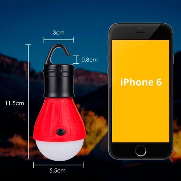 Mini Portable Lantern Tent Light LED Bulb Emergency Lamp Waterproof Hanging Hook Flashlight For Camping 4 Colors Use 3*AAA 3